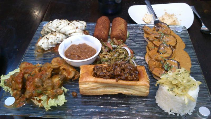 African mixed grills platter